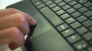 Using A Laptop Trackpad Stock Footage
