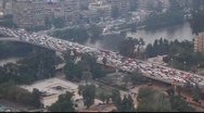 Stock Video Footage of Traffic on the road. View from the Cairo tower