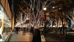 Christmas illuminations in JAPAN Stock Footage