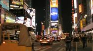 Stock Video Footage of The stunning Times Square at night