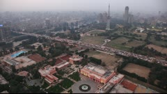 Evening aerial view on the Cairo city Stock Footage