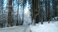 Snowy Winter Road Stock Footage