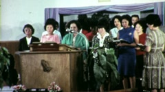 Native American Indian Women Worship Church 1960s Vintage Film Movie 1547 Stock Footage