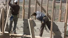 construction workers doing his duty - stock footage