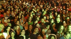Audience claping hands. Stock Footage