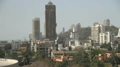 Mumbai high rise tower blocks Stock Footage