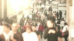 Crowd walking in the street of Mexico Stock Footage