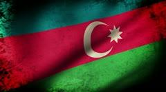 Azerbaijan Flag, grunge look Stock Footage