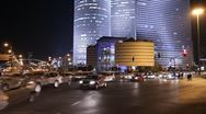 Tel Aviv at nigh Stock Footage