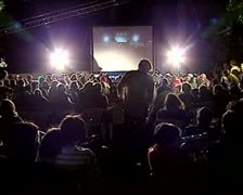 film festival open air - stock footage