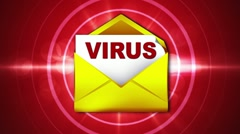 Virus eMail Infect Red, LOOP - HD1080 Stock Footage