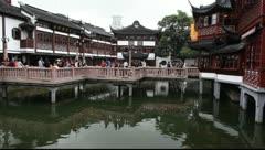 Yu Yuan Garden, Shanghai, China Stock Footage