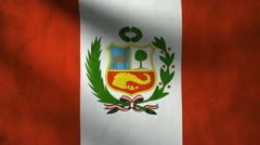 Peru flag. Stock Footage