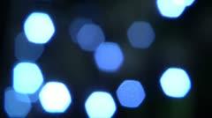 Blinking blu ligts, defocused. Stock Footage