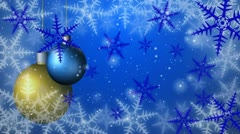 Christmas background seamless loop blue Stock Footage