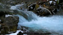 Flowing water in mountain river.+sound Stock Footage