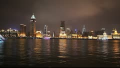 Shanghai Skyline at night Stock Footage