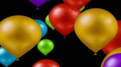Balloons on alpha  - stock footage
