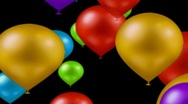 Stock Video Footage of Balloons on alpha