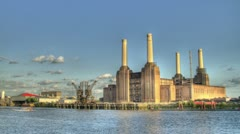 Battersea Power Station HDR time lapse Stock Footage