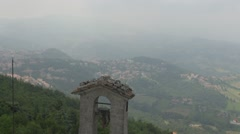 Ancient bell in Republic of San Marino, Italy, Europe Stock Footage