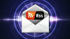 RSS Mail Concept - HD1080  Stock Footage
