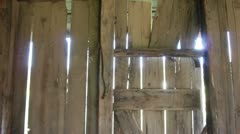 Barn wood slider dolly Stock Footage
