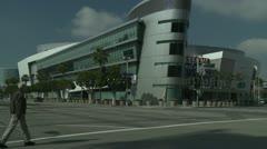 Los Angeles Staples Center nurkkaan näkymä Arkistovideo