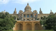 National Art Museum of Catalonia in Barcelona Stock Footage