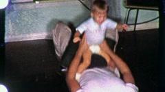 Isä potra poika Circa 1955 (vintage Film Koti videokuvaa) 1595 Arkistovideo