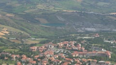 Aerial view of Republic of San Marino, Italy, Europe - stock footage