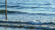 Stock Video Footage of Nets for fishing in the sea