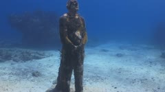 Underwater Museum III, Cancun & Isla Mujeres,MX - stock footage