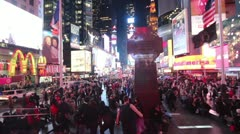 Times Square Crowd High Angle Stock Footage