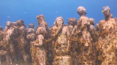 Underwater Museum, Cancun & Isla Mujeres,MX Stock Footage