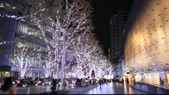Christmas illumination in Japan Stock Footage