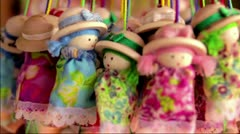 Handcraft dolls Stock Footage