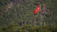 Flag Turkey Stock Footage