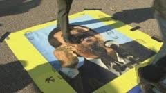 Stock Video Footage of Ahmadinejad protest