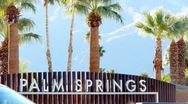 Stock Video Footage of Welcome to Palm Springs