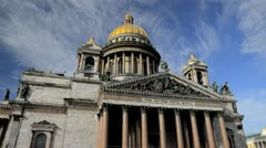 St. Isaac's Cathedral, St. Petersburg, Russia   - stock footage