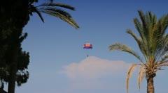 Parachutist - stock footage