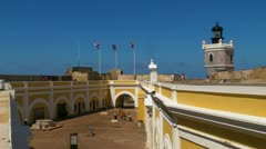 25p El Morro Castle 2 Stock Footage