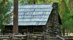 Old Log Cabin Stock Footage