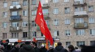Stock Video Footage of Protests against unfair elections in Russia on December 10, 2011