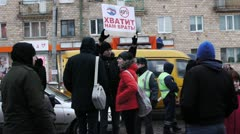 Protests against unfair elections in Russia on December 10, 2011 - stock footage