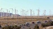 Renewable Energy - Wind Turbines and Traffic Stock Footage