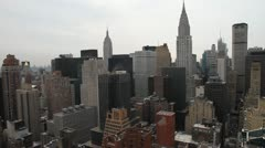 NYC skyline pan 001 1080p 24fps Stock Footage