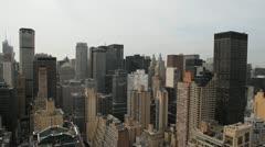 NYC skyline pan long 002 1080p 24fps - stock footage