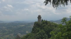 Cesta Tower, San Marino, Italy - stock footage